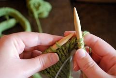 Day 1 (knitting the green snake)