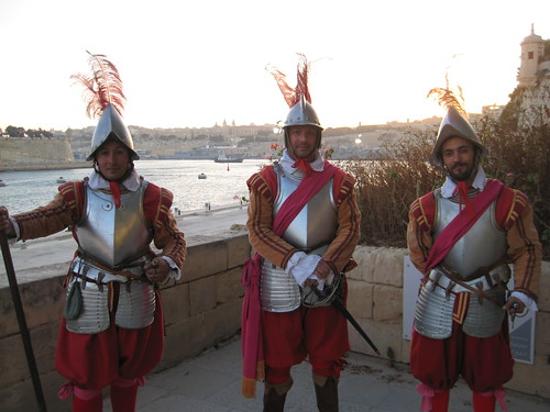 Soldiers outside Fort St. Angelo