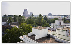 Nataraja Temple from Hotel Roof (Ceeyefaitch) Tags: india tamilnadu southindia chidambaram natarajatemple