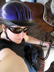 self portrait on horse