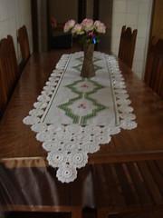 Caminho de mesa (ViniSon) Tags: cozinha fita bordado croche vagonite caminhodemesa