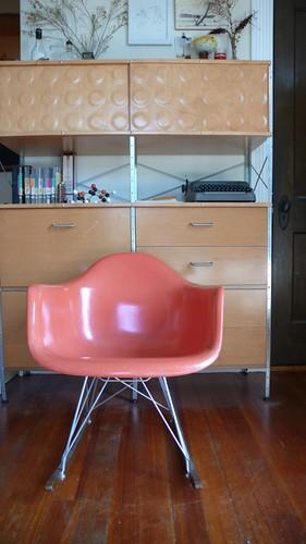 Eames Fiberglass Shell Armchair, late 1950's