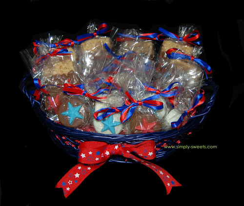 4th of July treat basket