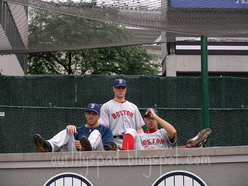 The Visitors bullpen behind our seats