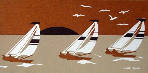 Marushka - three sailboats (browns)