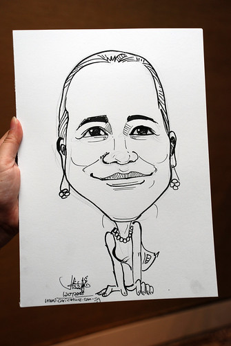caricature live sketching for wedding dinner 120708  - 26