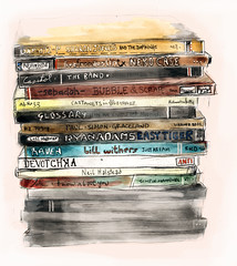 Album stack (Here On the Road) Tags: music illustration cds sebadoh ida theband nekocase castanets ryanadams paulsimon glossary devotchka sharonjones neilhalstead billwithers rachelbriggs