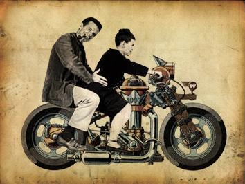 Eamespunk motorcycle