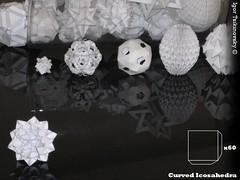 Curved Icosahedra (tsikinovsky) Tags: art ball design origami modular diagram curved instruction icosahedra