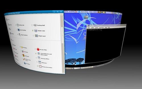 Compiz Desktop Silinder