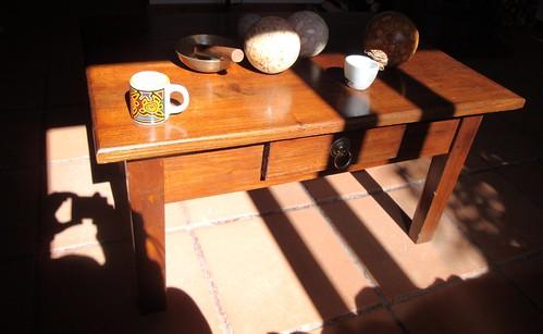 luz na mesa