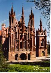 St. Ann's Church, Vilnius, Lithuania.