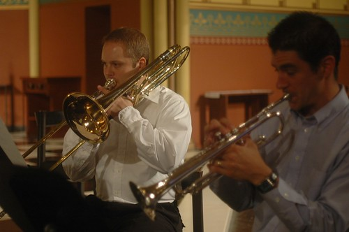 Guillaume Fortin, trumpet and Brian Risinger, trombone by you.