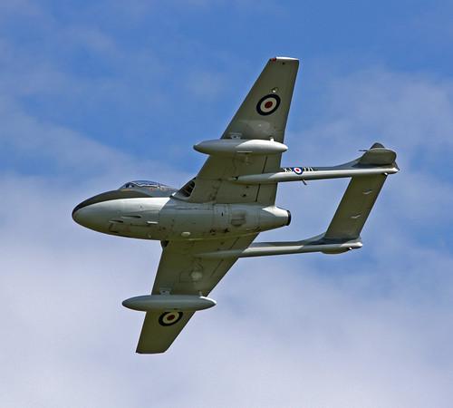 Warbird picture - De Havilland Vampire G-HELV - 2