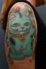 Lisa's very lucky cat by Filip Leu tattoo by Filip