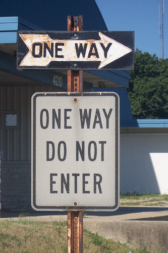 Old One Way sign