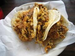 Egg-Chorizo Tacos