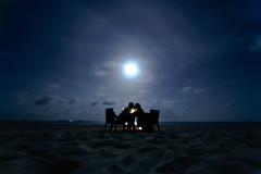 20 second kiss. (edwardkb) Tags: beach interestingness sand kiss honeymoon fullmoon explore candlelight maldives beachhouse candlelitdinner interestingness224 ruvjet manafaru edwardbarnieh