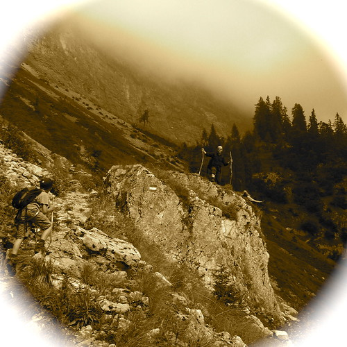 Aufstieg zur Pühringer Hütte