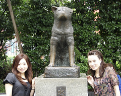 Hachiko and cute girls