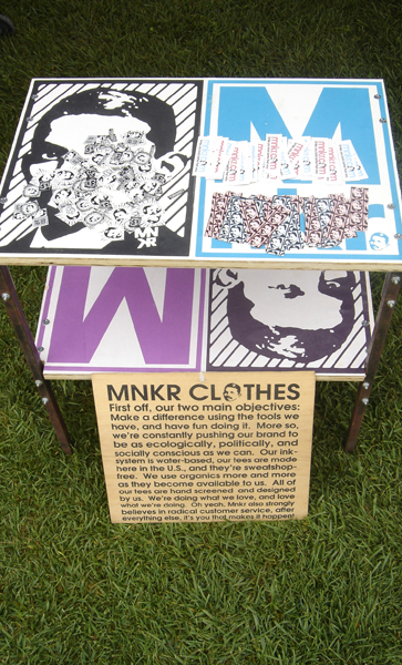 Art In The Park - Sept 2008, MNKR Clothing