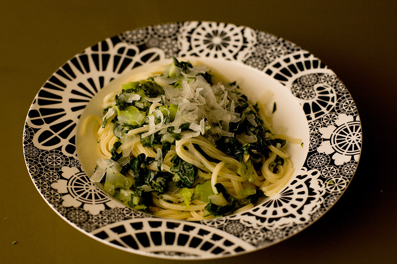Pasta with Broccoli and Silverbeet