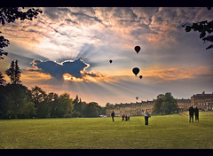Bath Balloons (tweeny) Tags: park sunset cloud hot balloons bath air royal victoria crescent selected rays