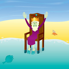 King Canute's misery (roctopus) Tags: illustration hermitcrab sadness vectorart graphic drawing tide adobe illustrator misery vector halibut adobeillustrator kingcanute illustratorgradients