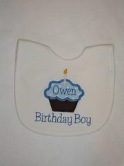 1st Birthday Applique Bib Clarence Font (obabygear) Tags: bibs
