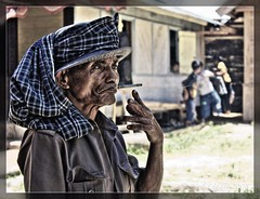 Butcher Smoking