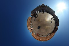 Place du Capitole (gadl) Tags: panorama france place gimp projection handheld toulouse 2008 360 mbc capitole mostlyharmless stereographic hugin bookcrosser 31000 enblend placeducapitole maza34 mathmap stereographicprojection