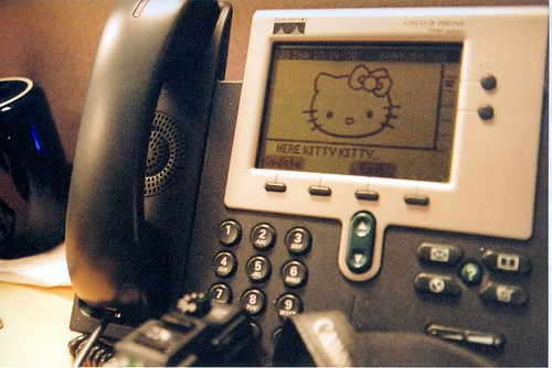Cisco IP Phone ft. HELLO KITTY