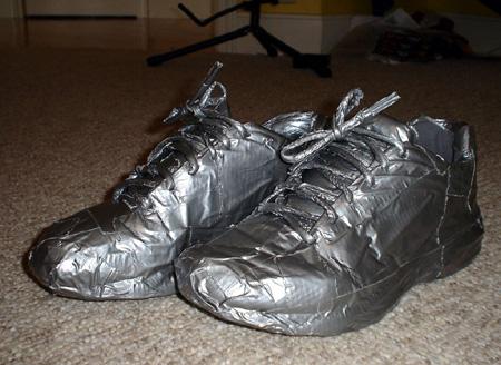 Duct Tape Repair Shoes