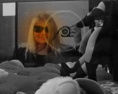 Me in New York (**Ms Judi**) Tags: camera portrait stuffedtoy selfportrait newyork game smile sunglasses smiling self hair toys actionfigure longisland figure blonde blondie eyewear toyfigure actiontoy msjudi
