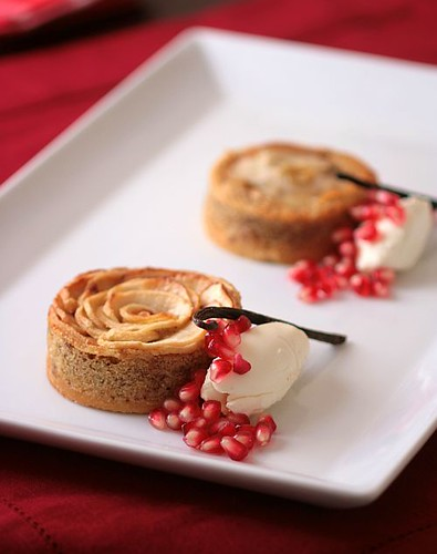Apple Frangipane Tartelettes And Cheesecake Ice Cream