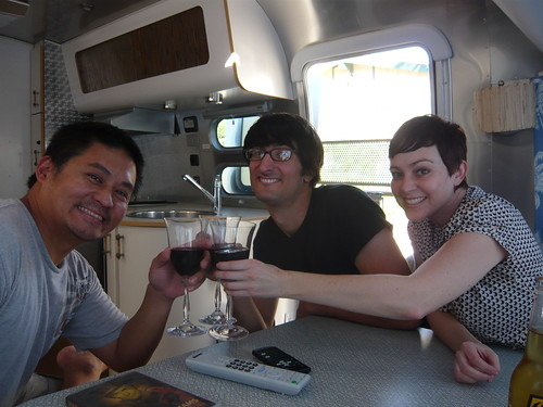 Our first guests in the Airstream