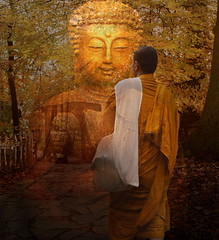 Buddha Bridge (h.koppdelaney) Tags: bridge art love smile digital photoshop gold energy peace heart spirit path buddha free peaceful compassion buddhism philosophy diamond inner mind meditation wisdom enlightenment dharma salvation mythology consciousness psyche integration sutra psychology archetype selflove teachings lightful hinayana hourofthesoul