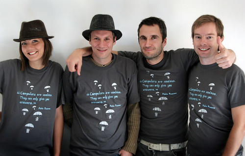 Carsonified crew modelling the new Tee