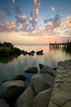 Infinity (Khaled A.K) Tags: longexposure sunset sea seascape clouds photography pier rocks filter nd sa saudiarabia khaled waterscape ksa saudia nd8 nd4 kashkari