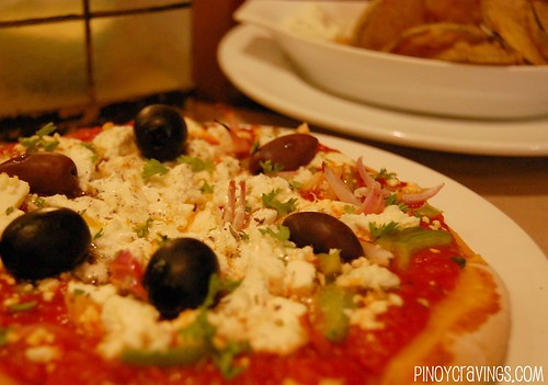 Zuzuni Restaurant Greek Pita Pizza with Feta and Olives