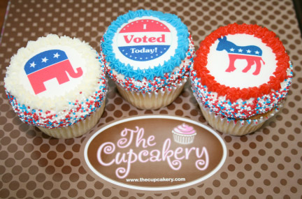 Free election day cupcakes for voters at The Cupcakery