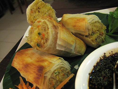 Springroll with rice
