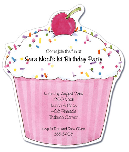 cupcake cards and invites galore