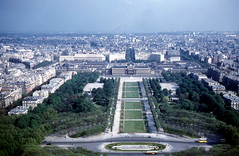 Paris - SE from Eiffel Tower (1960)