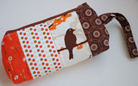 Patchy sparrow wristlet