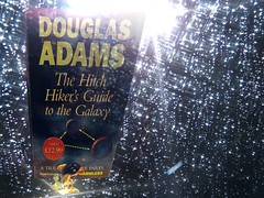 DON'T PANIC! (Siri Chandra) Tags: sf window rain book books aliens stellar dolphins raindrops sciencefiction thehitchhikersguidetothegalaxy douglasadams grandhotel dontpanic myfavouritethings mybooks myeverydaylife procolharum