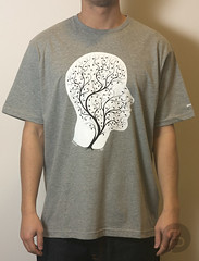 Staple Vein Brain Tee - Heather Grey
