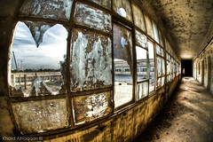 Broken dreams (Khalid AlHaqqan) Tags: abandoned ex broken window glass canon dc brokenglass sigma fisheye kuwait khalid f28 hdr brokenwindow 10mm hsm 40d kuwson alhaqqan canon40d sigma10mmf28exdchsmfisheye khalidalhaqqan