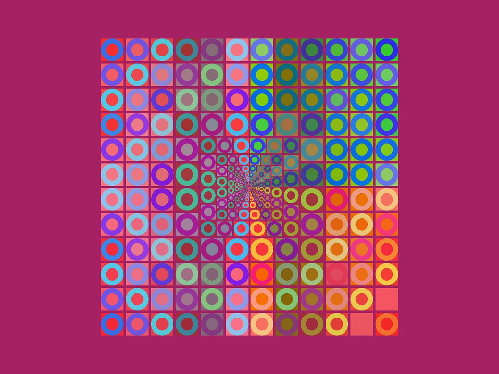 Thinking Of Vasarely Ciokkolata Is Ashamed Silvio Burlesquoni Tags Wallpaper Abstract Color Colors Digital Crazy Colours Circles