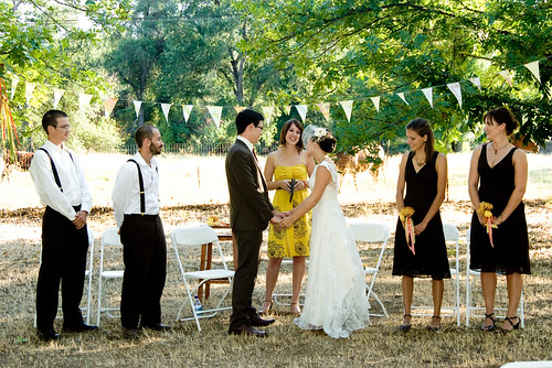 The Wedding Party Stood For First Part Of Ceremony Where Susan Explained A Quaker And We Said Our Vows Which Wed Written Each Other